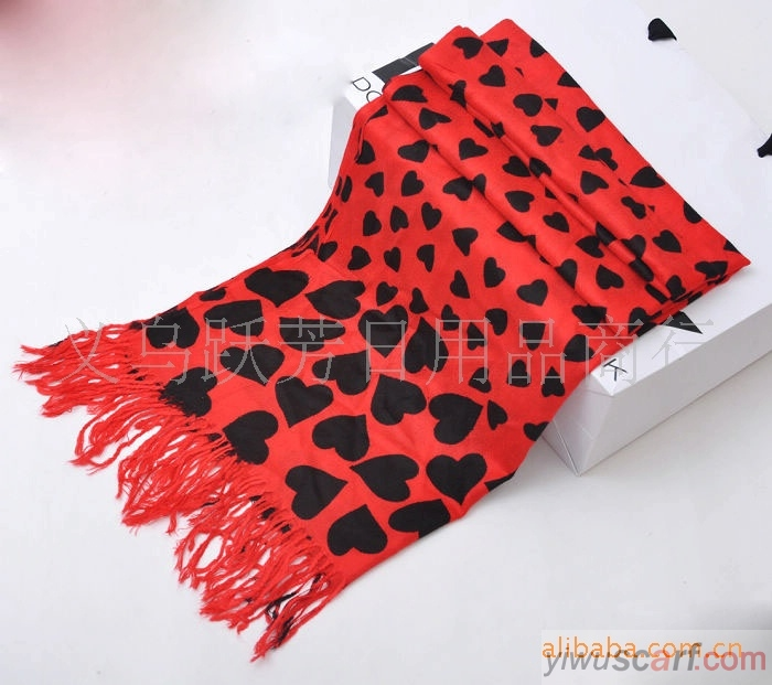 Heart cashmere scarves