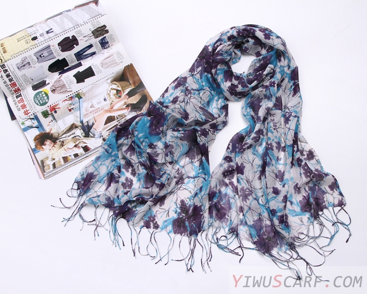 Pastoral linen scarves wholesale