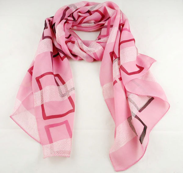 Italian plaid silk scarf