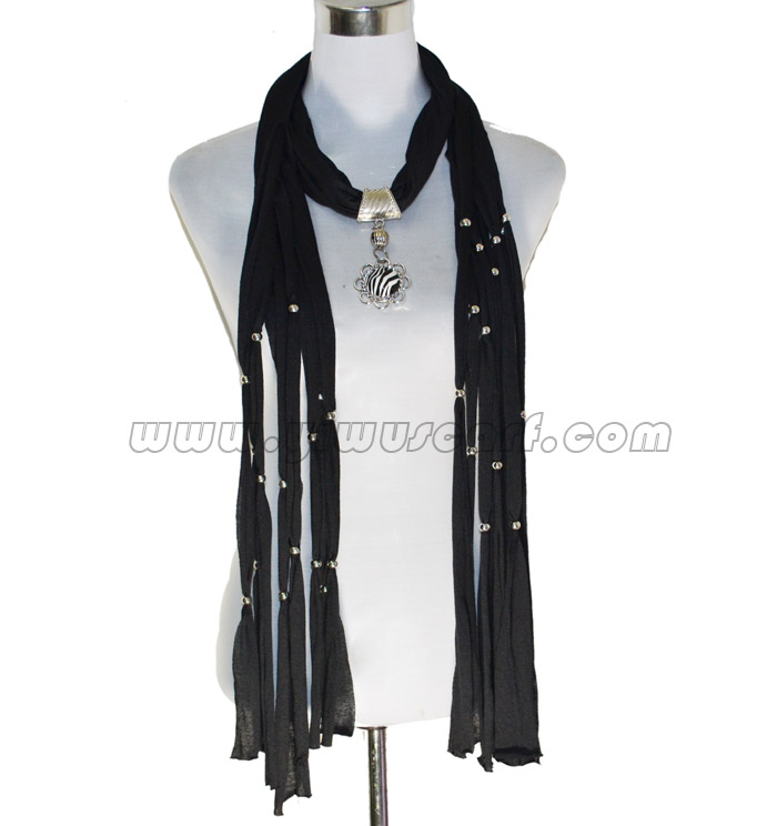 scarves with pendants