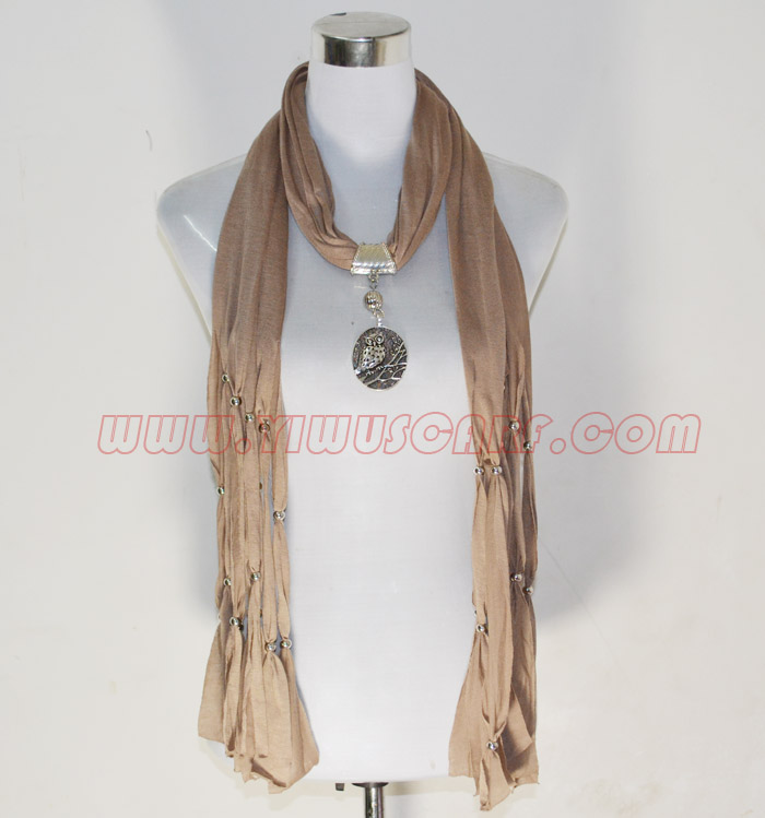 scarves with heart pendants