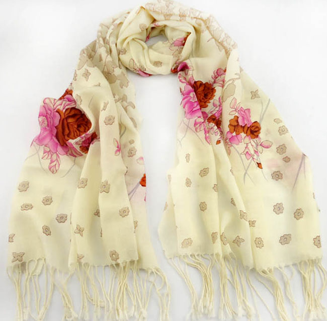 Mexico wool printed scarves