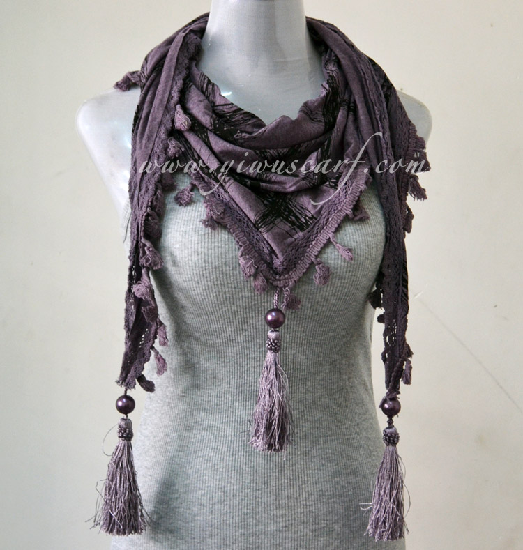 Lace triangle scarves jewelry