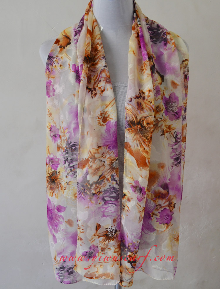 Silk chiffon scarf wholesale china Scarf Chiffon Scarves Wholesale