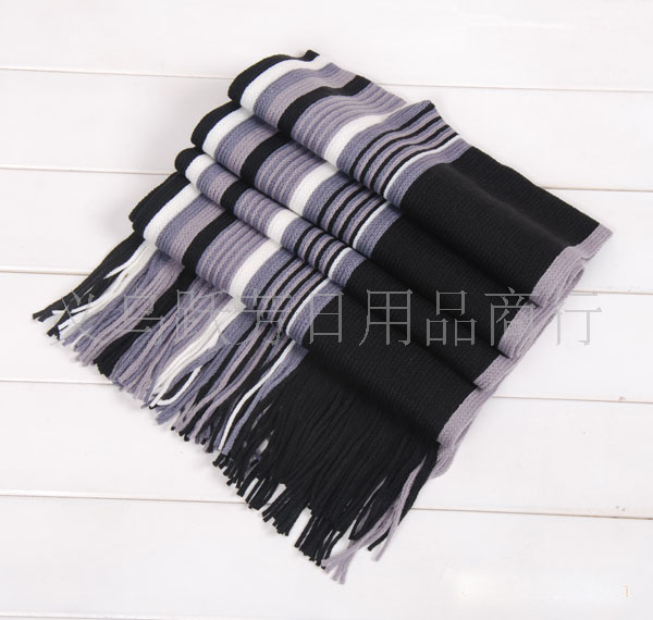 Men's cashmere knitted scarves