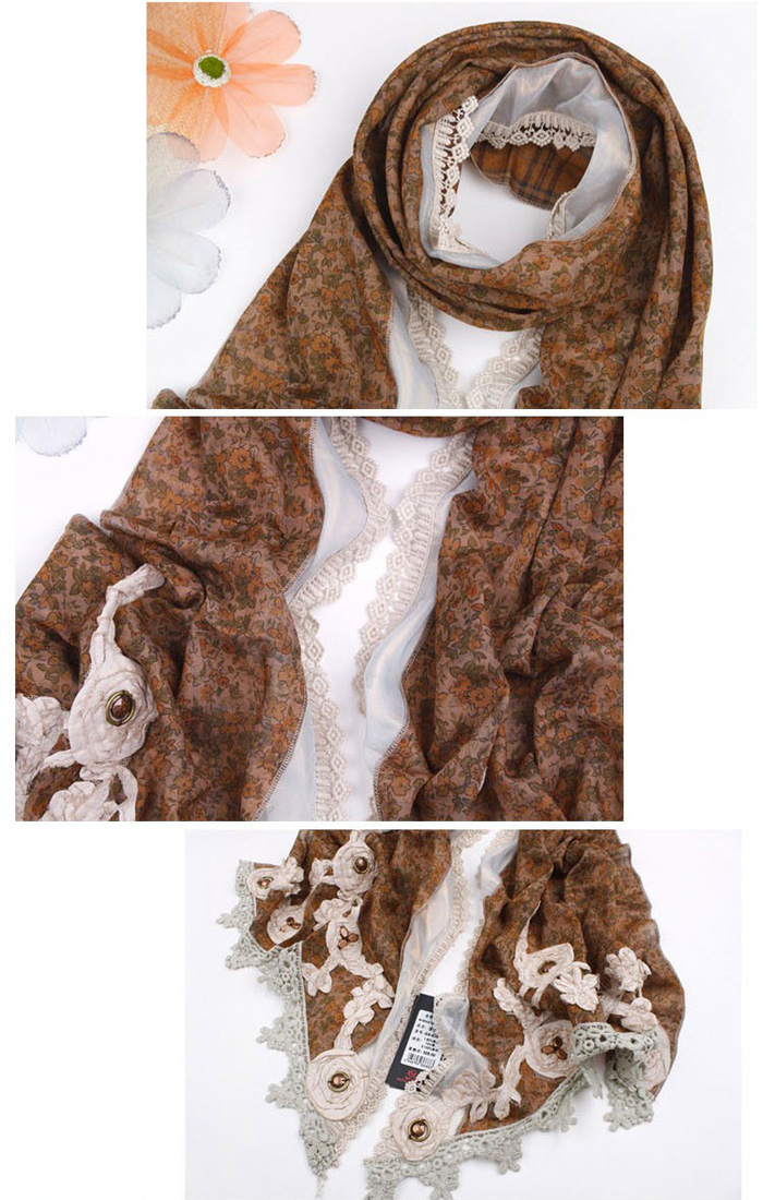Hand Hollow lace scarves