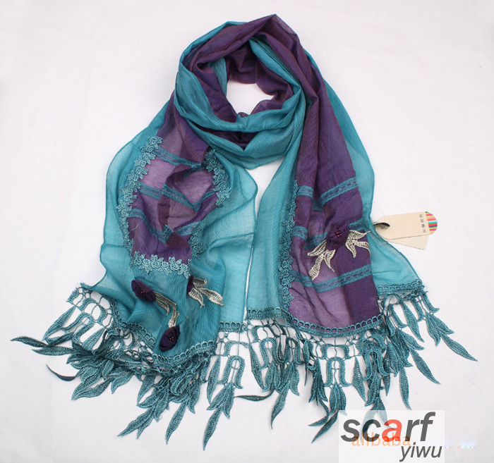 French Flower Garden Scarf