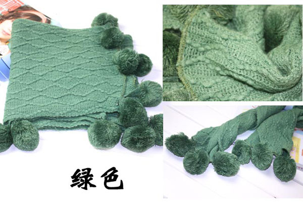 Sphere wool winter  scarves wholesale