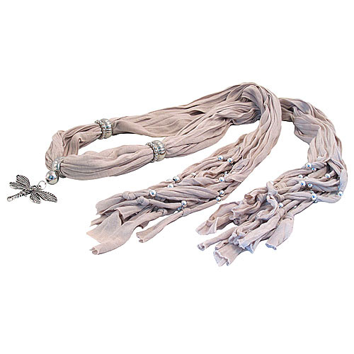 scarf with jewellery