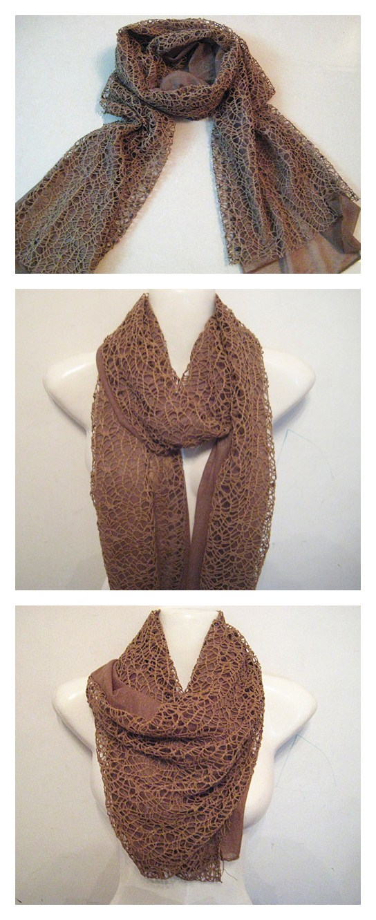 lace scarf two tone color scarf