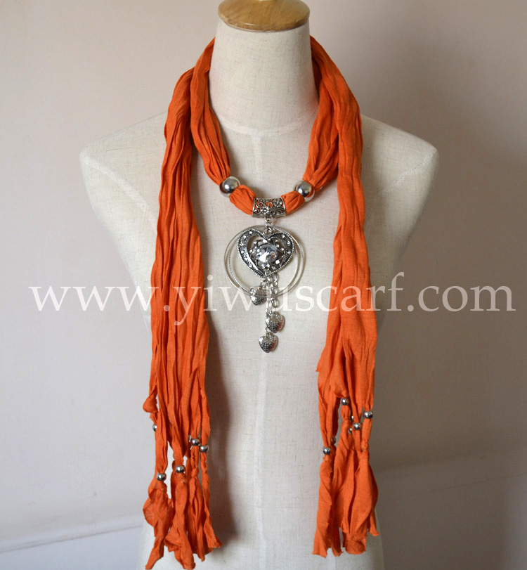 pendant scarves jewelry scarf