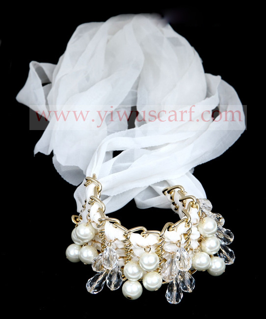 CHAIN BEADS PEARL STONE JEWELRY