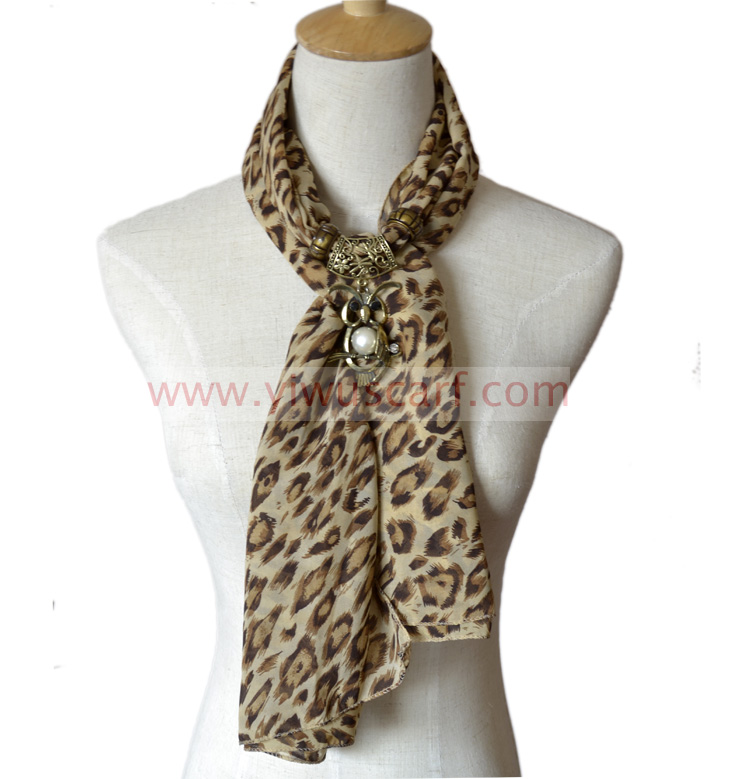 solid color pendant scarves