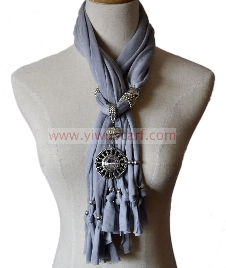 Fashion Pendant Jewelry Scarf Necklace Scarf Jewelry Necklace