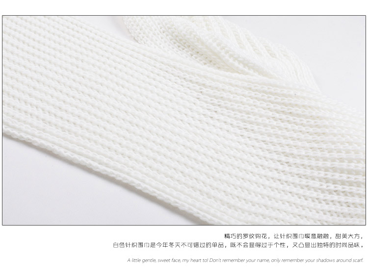 girls winter knitted scarf