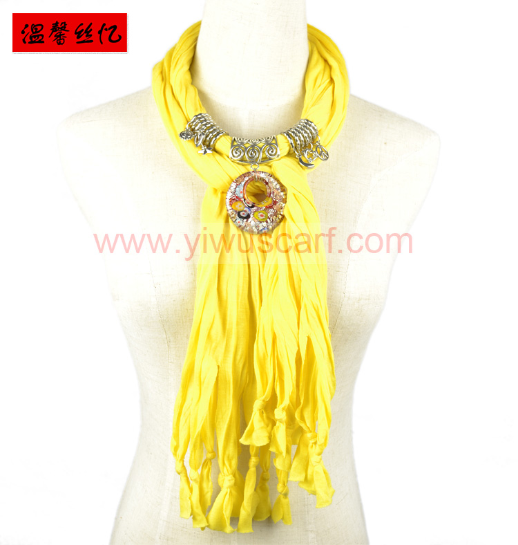 Colored glaze pendant jewelry scarf
