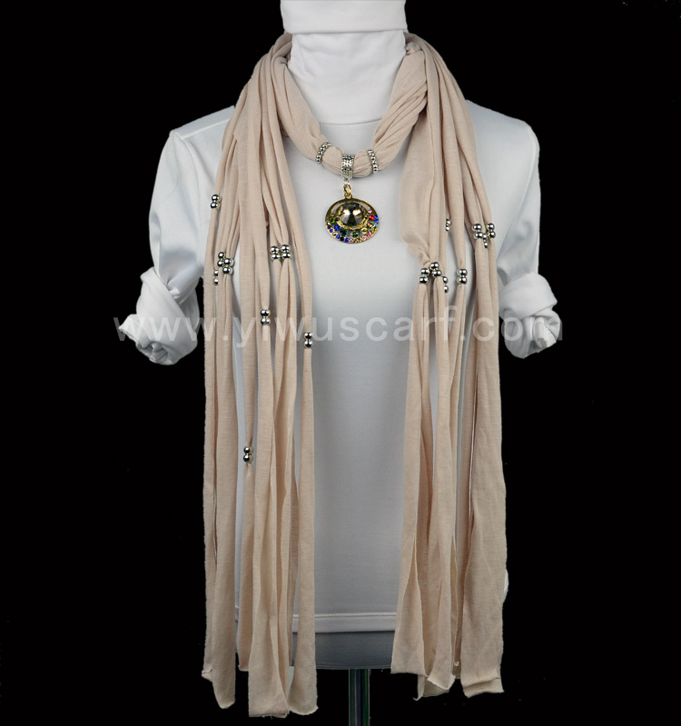 Fashion diamond pendant jewelry scarf