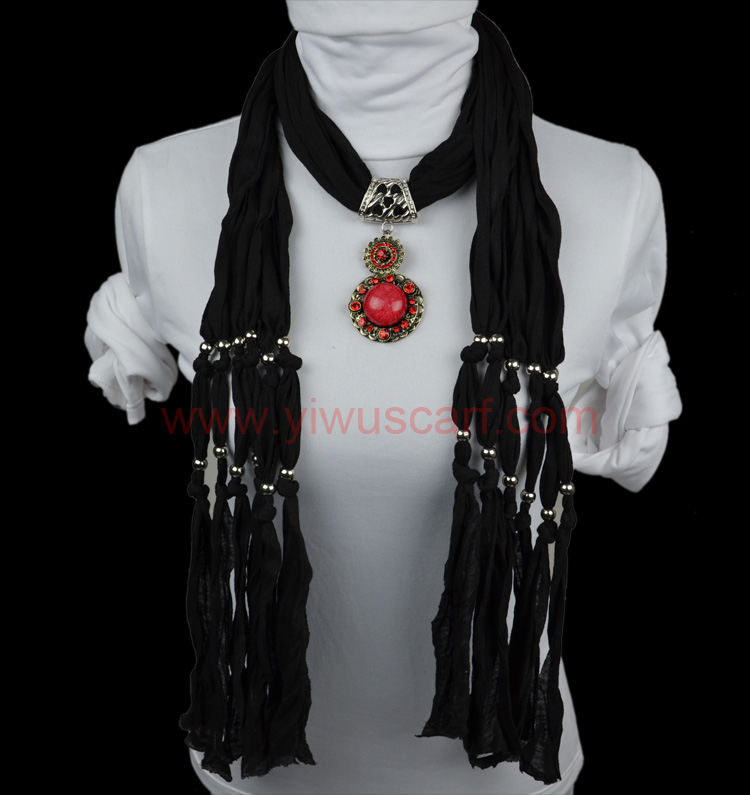Fashion alloy pendant scarf stones Wholesale