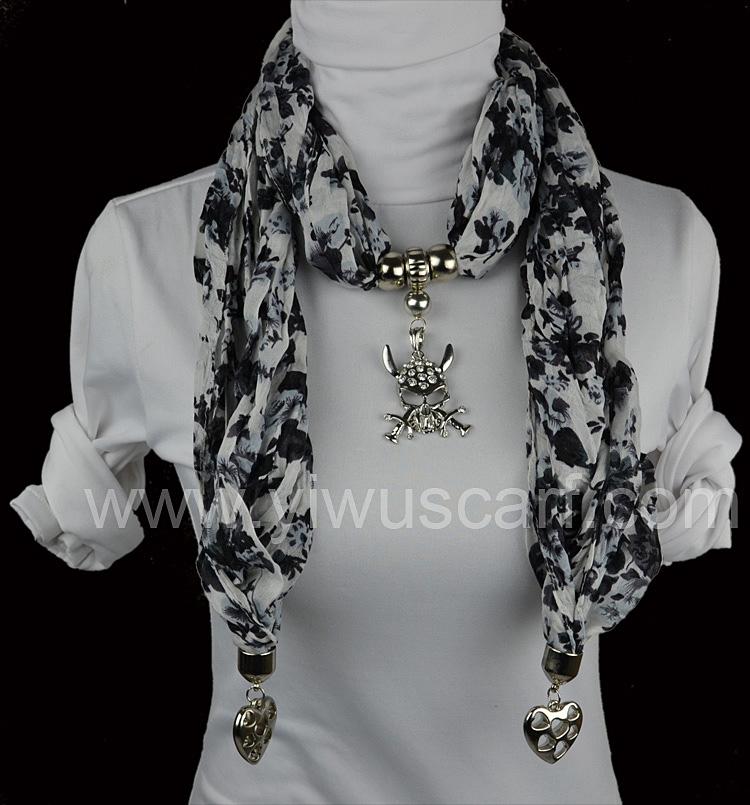 pirate skull pendant scarf china scarf