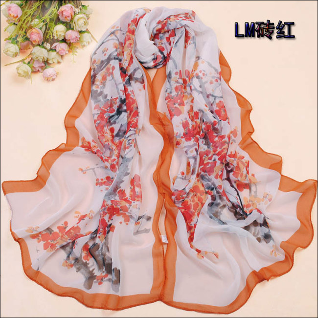 Plum silk scarf, new scarf