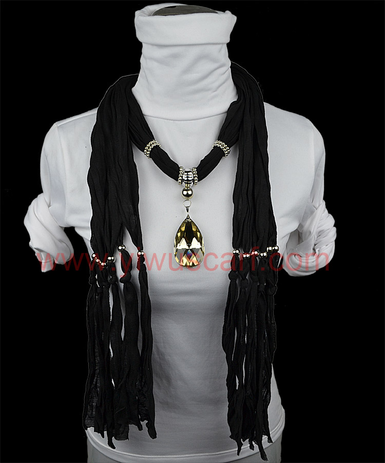 Rhinestone Pendant Scarf Fashion Spring Collection