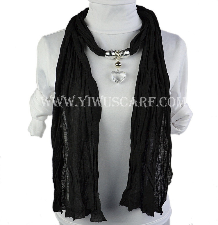 Wholesale Fashion diamond heart pendant jewelry scarf
