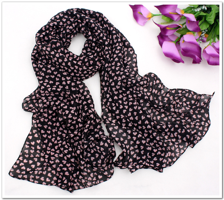 Love scarves, chiffon scarves in summer