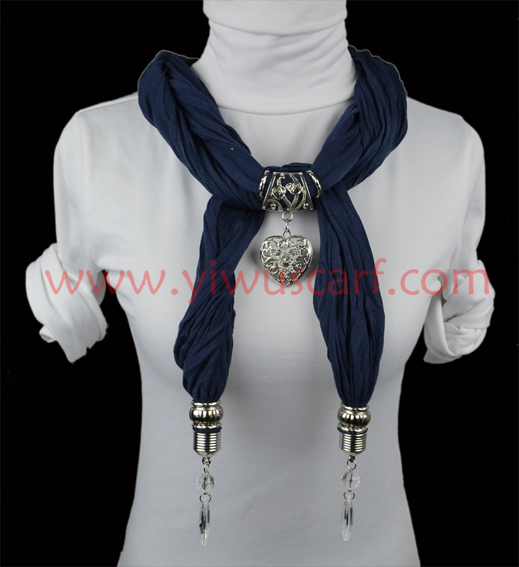 UK pendant scarf with necklace jewellery