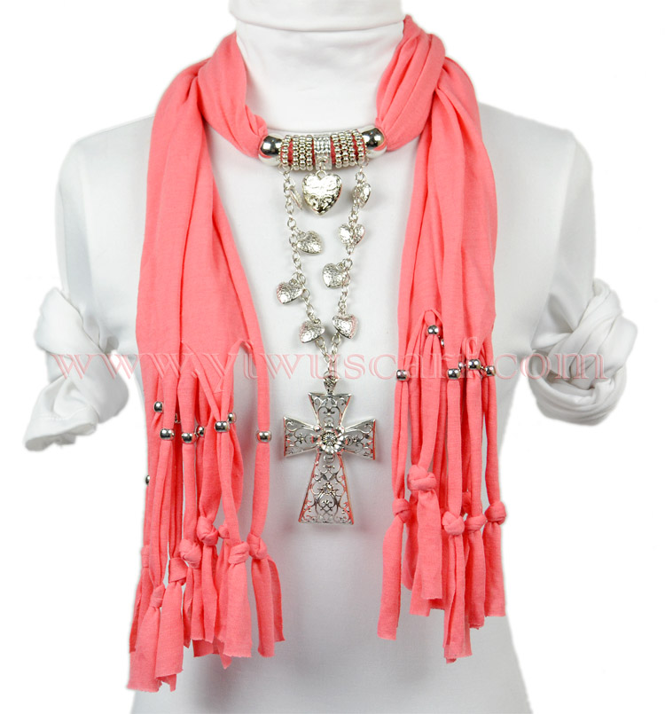 pendant scarf necklace
