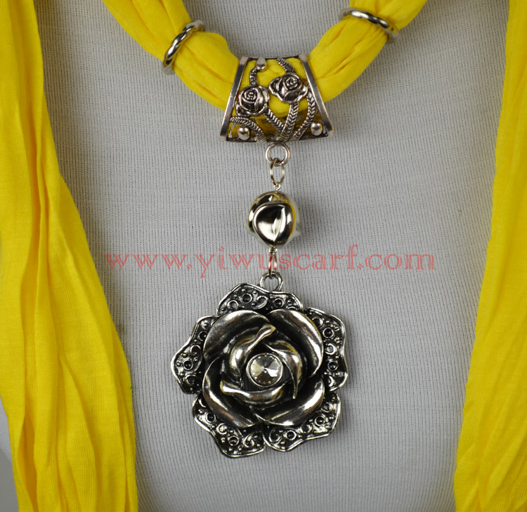 flower pendant necklace jewelry scarf