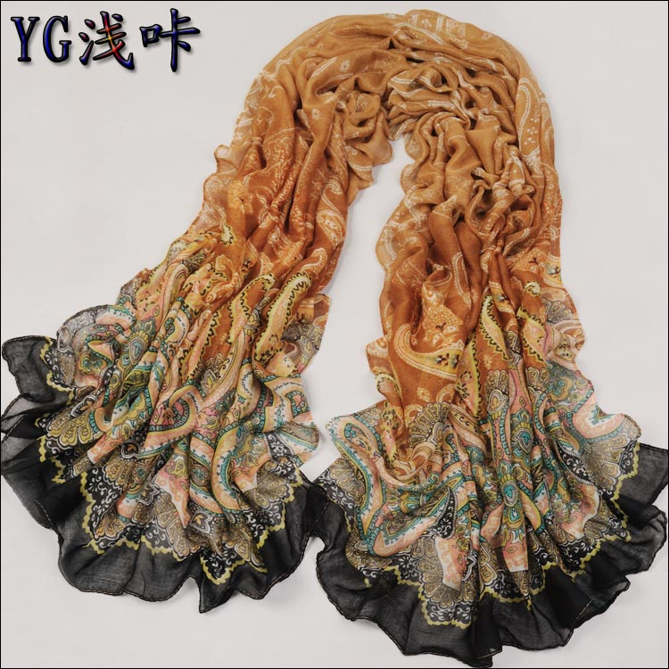 Winter cashew flower scarf Chinese scarves