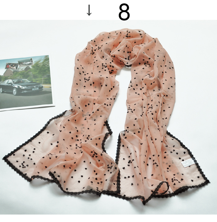 chiffon lace love scarf silk selling silk