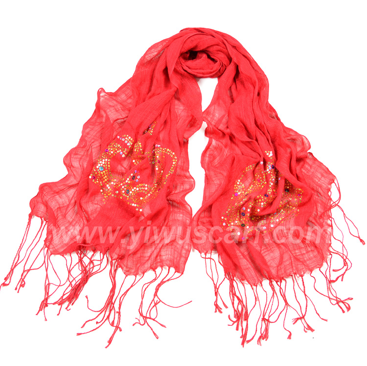 Crown sequins fashion scarves