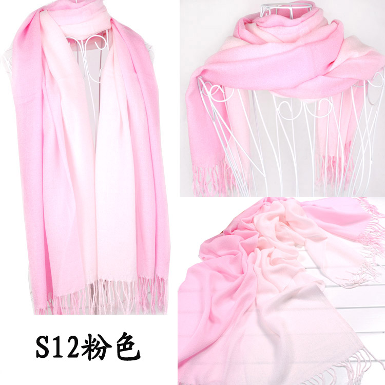 Yiwu two color cashmere scarf