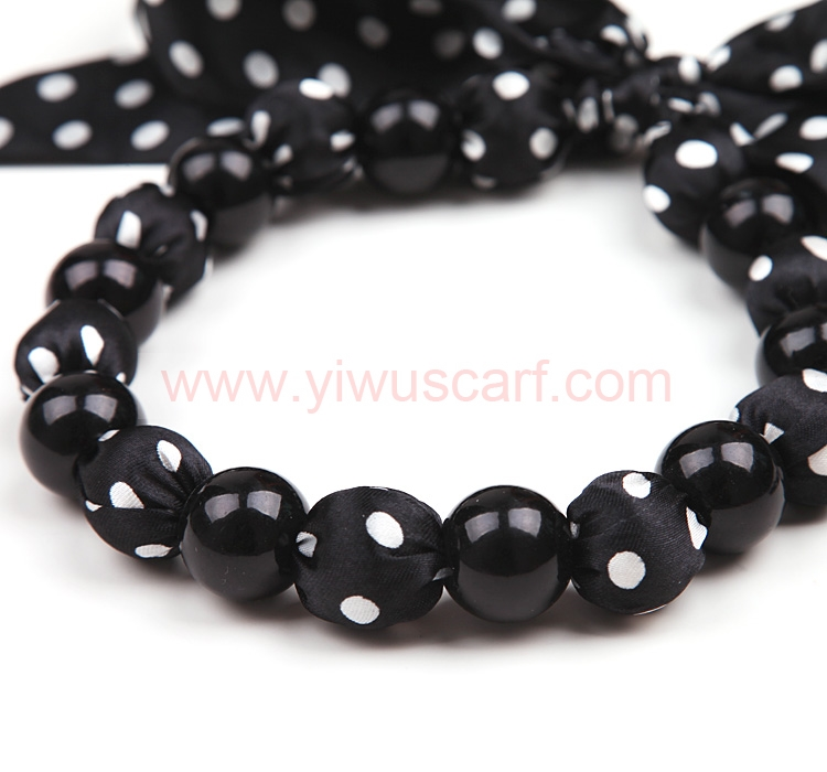 Black Fashion Pearl Scarf Necklace