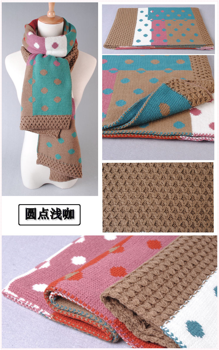 Dot stitching scarves wholesale