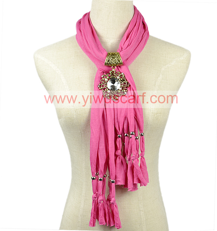 Watermelon Red Jewelry Pendant Scarf Fashion Long Tassel