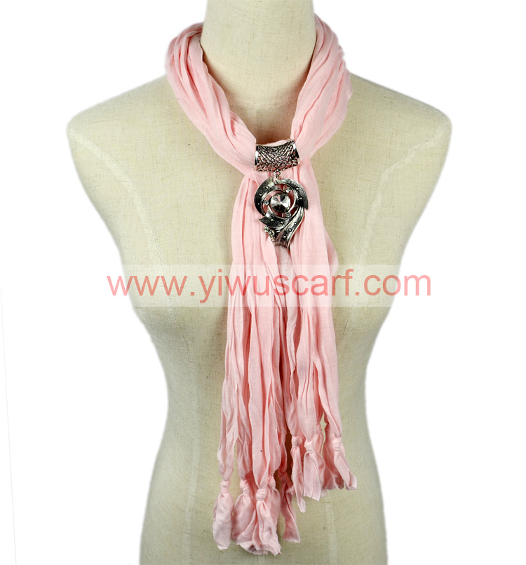 Pendant scarf necklace jewelry scarves
