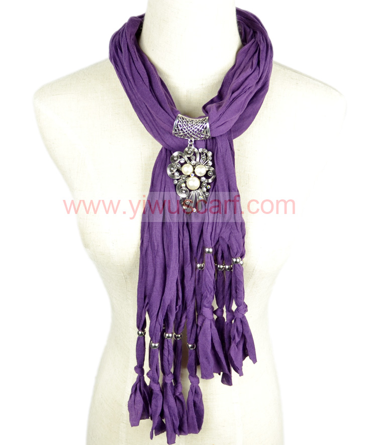 Alloy pearl pendant scarves wholesale