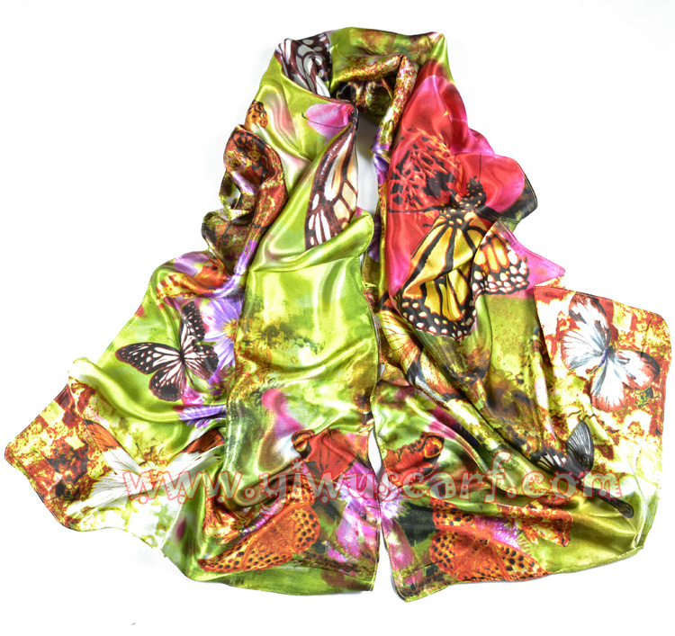 wholesale silk scarves flowers silk scarf china scarf