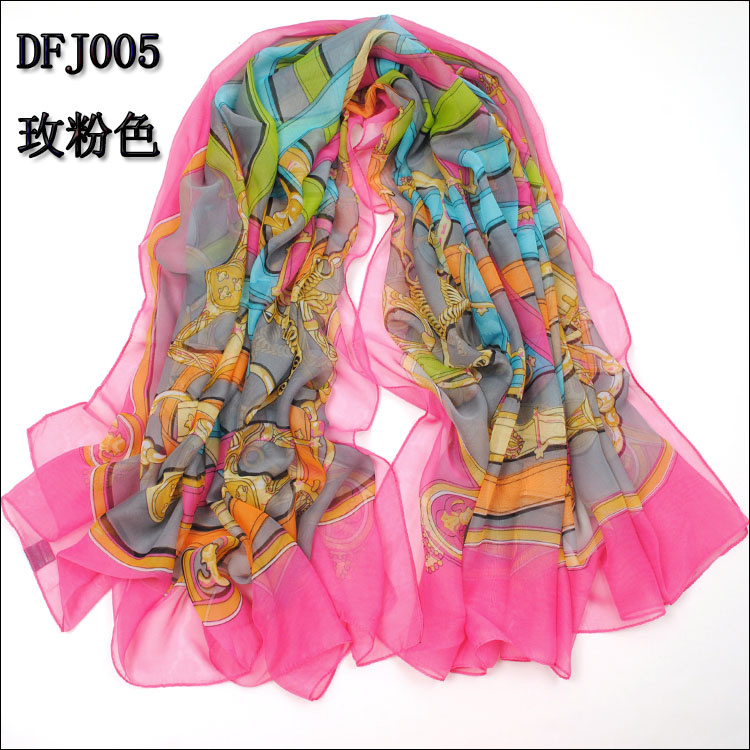 Womens Scarves A scarf can be worn in so many ways – knotted in various ways around the neck, wrapped around the head, pulled, shawl-style, over the shoulders. A truly versatile accessory, the right scarf can add interest and appeal to any look.