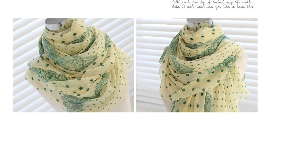 dot flower print silk scarf for summer