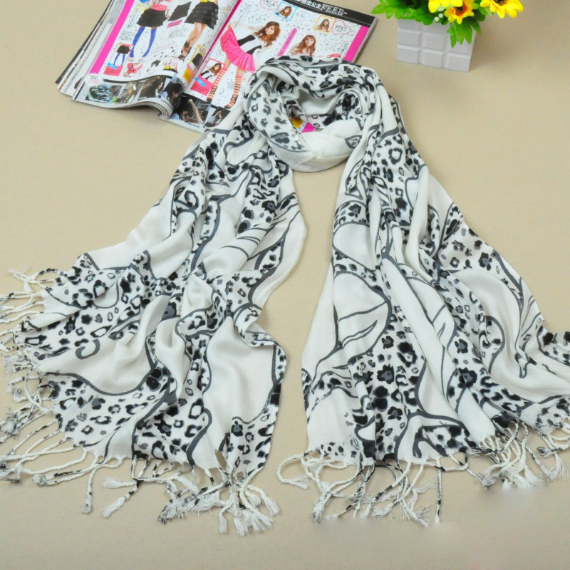 100 cotton scarf leopard scarf china scarf