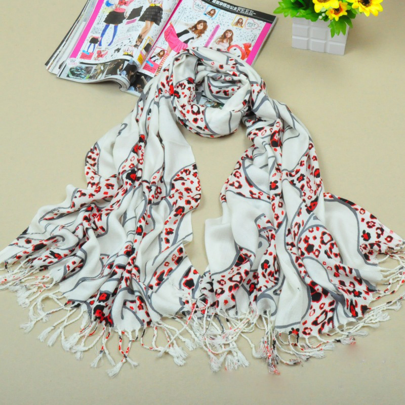 100% cotton scarf leopard print scarf