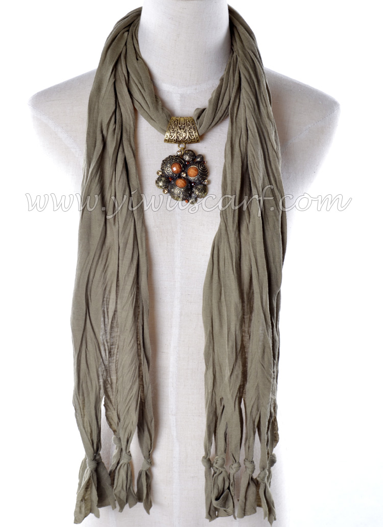 2013 New design alloy Pendant scarf jewellery