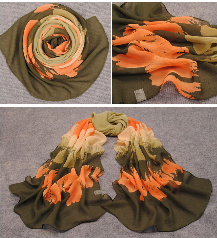 Chiffon womens scarves wholesale