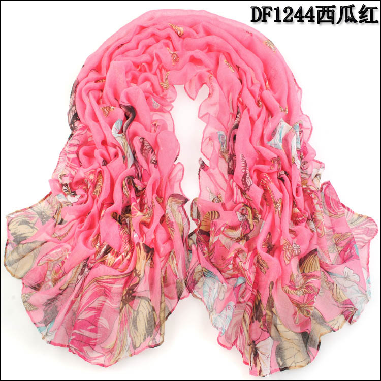 big butterfly voile cotton scarves wholesale china scarf