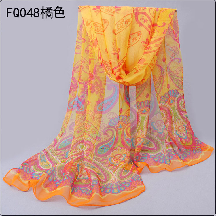 Wholesale Ms. Thin section cashew flower scarf shawl