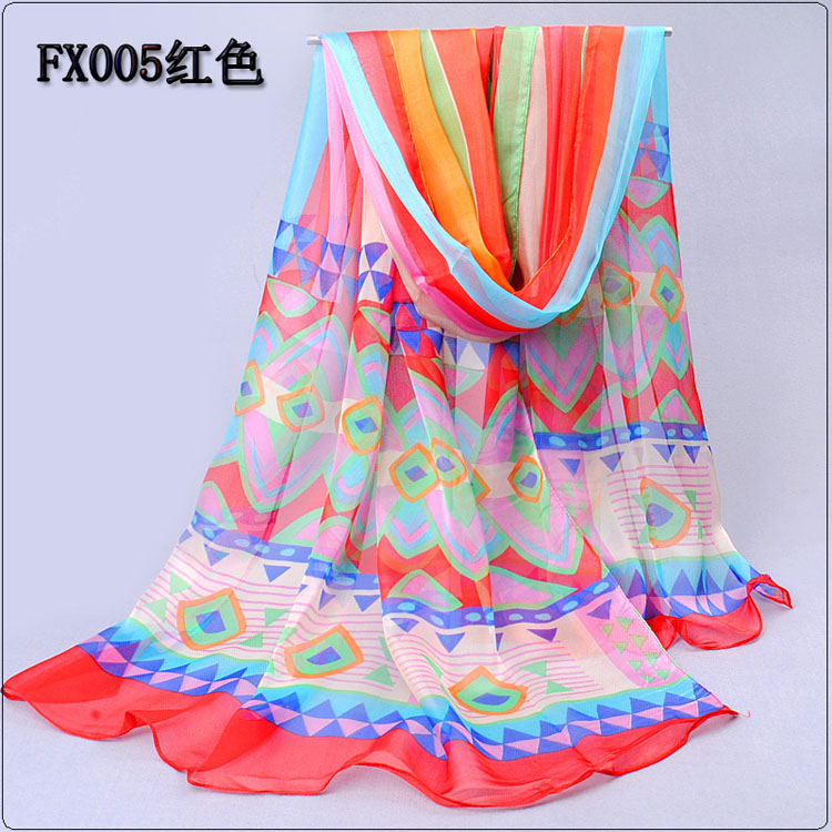 pastoral style printed scarves wholesale china scarf