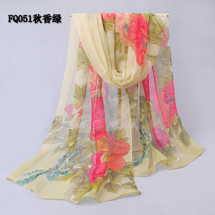 wholesale temperament peony chiffon scarves china scarf